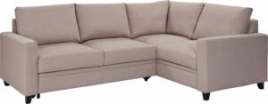 Argos Home Seattle Right Corner Fabric Sofa Bed – Natural