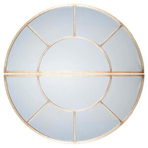 2 Oval Section Wall Mirror, Antique Gold