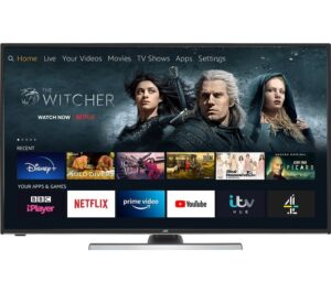 "55"" JVC LT-55CF890 Fire TV Edition Smart 4K Ultra HD HDR LED TV with Amazon Alexa"