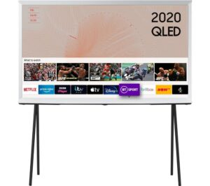 "55"" SAMSUNG The Serif QE55LS01TAUXXU Smart 4K Ultra HD HDR QLED TV with Bixby, Alexa & Google Assistant - Cloud White, White"
