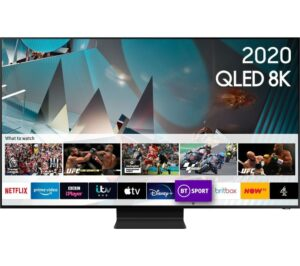 "75"" SAMSUNG QE75Q800TATXXU Smart 8K HDR QLED TV with Bixby, Alexa & Google Assistant"