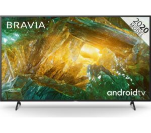 "85"" SONY BRAVIA KD85XH8096BU Smart 4K Ultra HD HDR LED TV with Google Assistant, Blue"