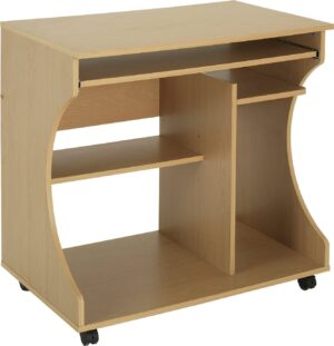 Argos Home Computer Office Desk - Beech Effect