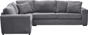 Argos Home Eton Left Corner Fabric Sofa – Charcoal