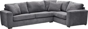 Argos Home Eton Right Corner Fabric Sofa – Charcoal