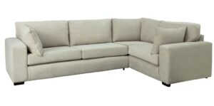 Argos Home Eton Right Corner Fabric Sofa – Grey