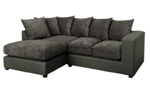Argos Home Hartley Left Corner Fabric Sofa – Charcoal