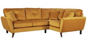 Argos Home Isla Right Corner Velvet Sofa – Gold
