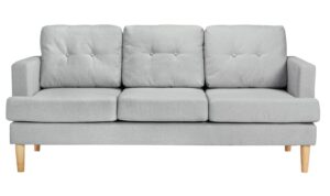 Argos Home Joshua 3 Seater Fabric Sofa – Light Grey