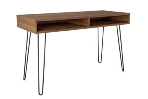 Argos Home Klark Hairpin Office Desk - Dark Wood Effect