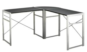 Argos Home Metal Corner Office Desk - Black