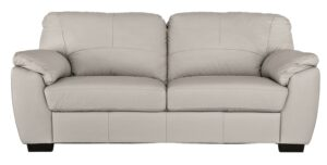 Argos Home Milano 3 Seater Leather Sofa – Light Grey