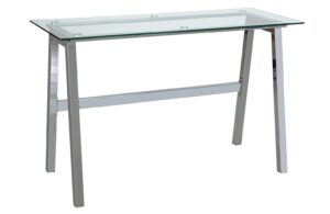 Argos Home Mirano Office Desk - Clear Glass
