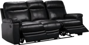 Argos Home Paolo 3 Seater Manual Recliner Sofa – Black