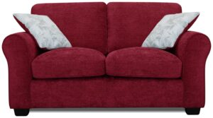 Argos Home Tammy 2 Seater Fabric Sofa – Wine