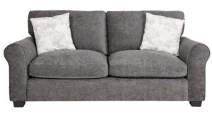 Argos Home Tammy 3 Seater Fabric Sofa – Charcoal