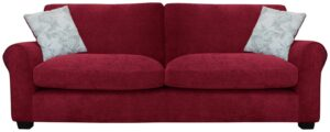Argos Home Tammy 4 Seater Fabric Sofa – Wine