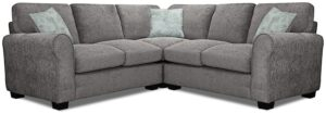 Argos Home Tammy Corner Fabric Sofa – Charcoal
