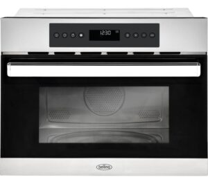 BELLING BI45COMW Built-in Compact Combination Microwave - Black & Stainless Steel, Stainless Steel