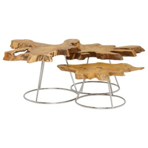 Caspian Admire Set of 3 Multi Coffee Tables