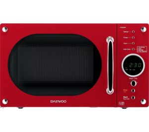 DAEWOO Retro KOR8A9RR Solo Microwave - Red, Red