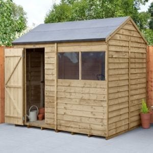 Forest Garden 8x6 Reverse apex Overlap Timber Shed
