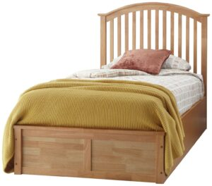 GFW Madrid Ottoman Single Bed Frame – Oak Effect