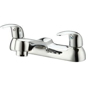 GoodHome Blyth Chrome-plated Bath Mono mixer Tap