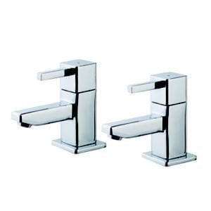 GoodHome Cooleen Chrome-plated Bath Pillar Tap Pack of 2