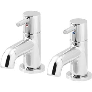 GoodHome Hoffell Chrome-plated Bath Pillar Tap Pack of 2