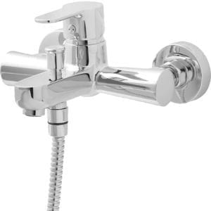 GoodHome Lecci Chrome-plated Bath Shower mixer Tap