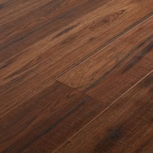 GoodHome Otley Brown Oak effect Laminate flooring Sample