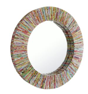 Habitat Cohen Recycled Magazine Round Wall Mirror