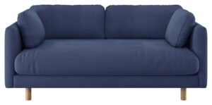 Habitat Mori 2 Seater Fabric Sofa – Blue