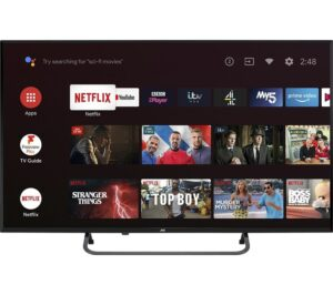 JVC LT-43CA890 Android TV Smart 4K Ultra HD HDR LED TV with Google Assistant