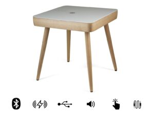 Koble Carl wooden wireless charging Bluetooth Side Table