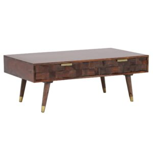 Kora 2 Drawer Coffee Table, Sheesham Wood