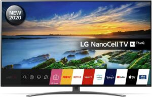 LG 55 Inch 55NANO86 Smart 4K Ultra HD LED TV with HDR