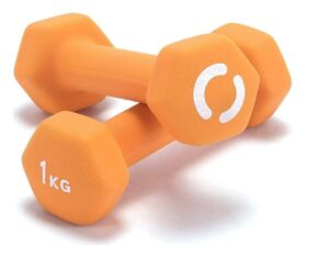 Opti Neoprene Dumbbell Set - 2 x 1kg