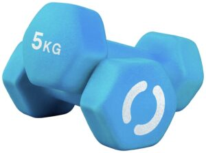 Opti Neoprene Dumbbell Set - 2 x 5kg