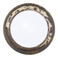 Pacific Lifestyle πpe; Antique Wood Round Wall Mirror