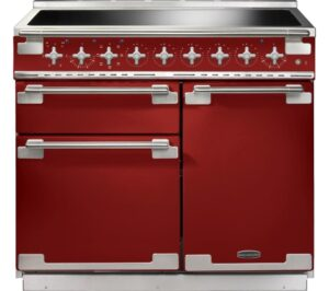 RANGEMASTER Elise 100 Electric Induction Range Cooker - Red & Chrome, Red