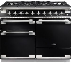 RANGEMASTER Elise 110 Dual Fuel Range Cooker - Black & Chrome, Black
