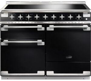 RANGEMASTER Elise 110 Electric Induction Range Cooker - Black & Chrome, Black