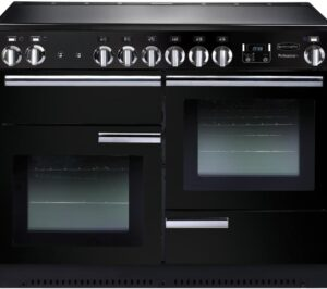 RANGEMASTER Professional 110 Electric Ceramic Range Cooker - Black & Chrome, Black
