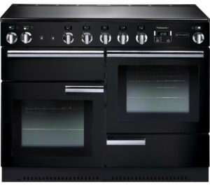 RANGEMASTER Professional 110 Electric Induction Range Cooker - Black & Chrome, Black