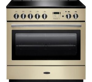 RANGEMASTER Professional 90 FX Electric Induction Range Cooker - Cream & Chrome, Cream