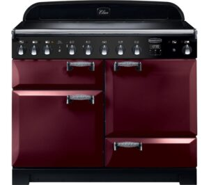 Rangemaster Elan Deluxe ELA110EICY 110 cm Electric Induction Range Cooker - Cranberry & Chrome, Cranberry