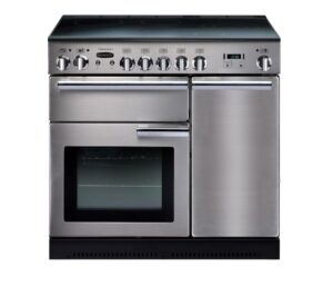 Rangemaster Professional 90 Induction Range Cooker - Stainless Steel & Chrome, Stainless Steel
