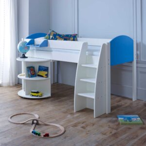 Rondo B Childrens Midsleeper Bed with pull out Desk